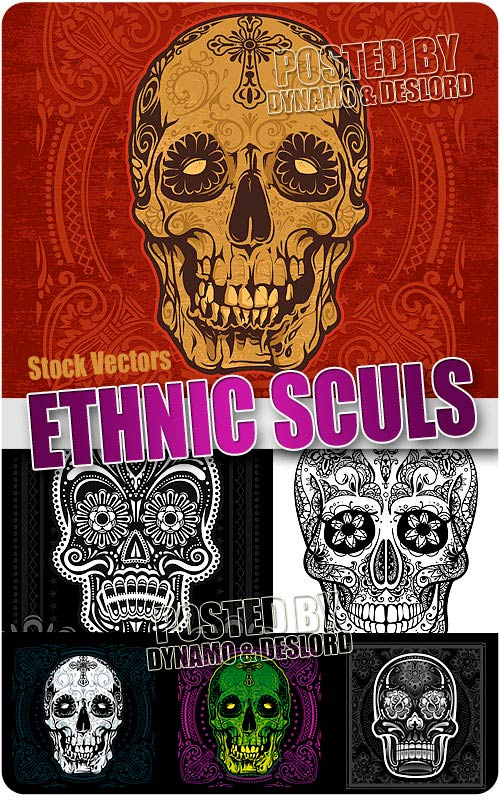 Ethnic Skulls - Stock Vectors