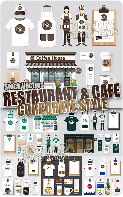 Restaurant and cafe corporate style - Stock Vectors