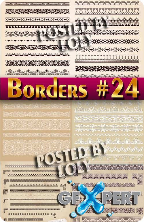 Vintage elements and borders #24 - Stock Vector