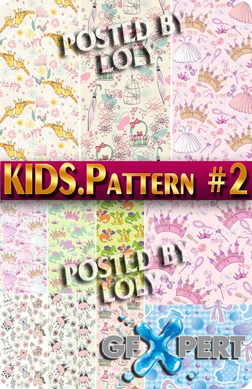 Kids Patterns #2 - Stock Vector