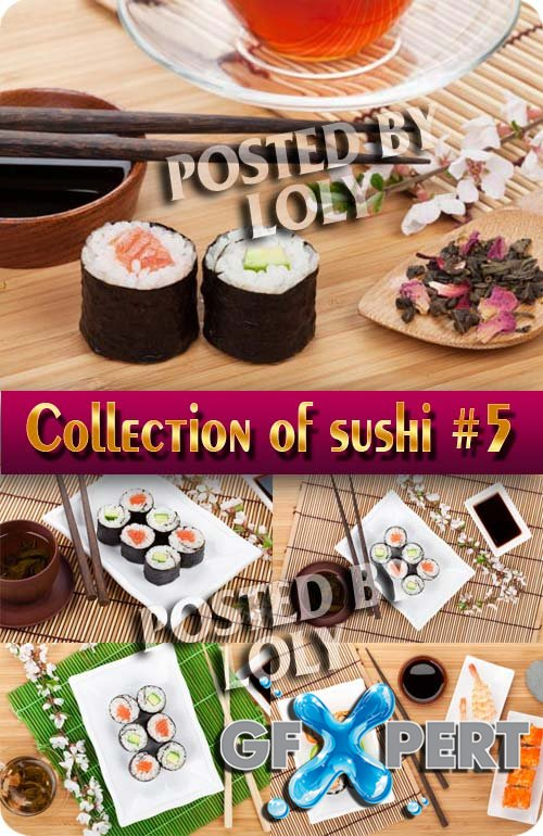 Food. Mega Collection. Sushi #5 - Stock Photo