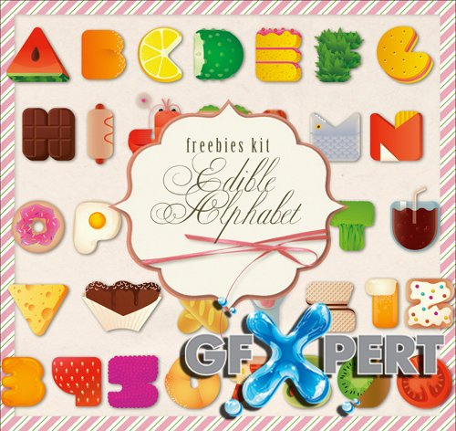 Scrap Kit - Edible Alphabet