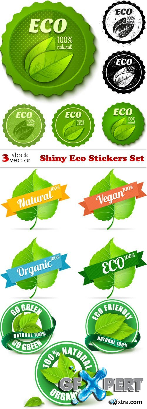 Vectors - Shiny Eco Stickers Set