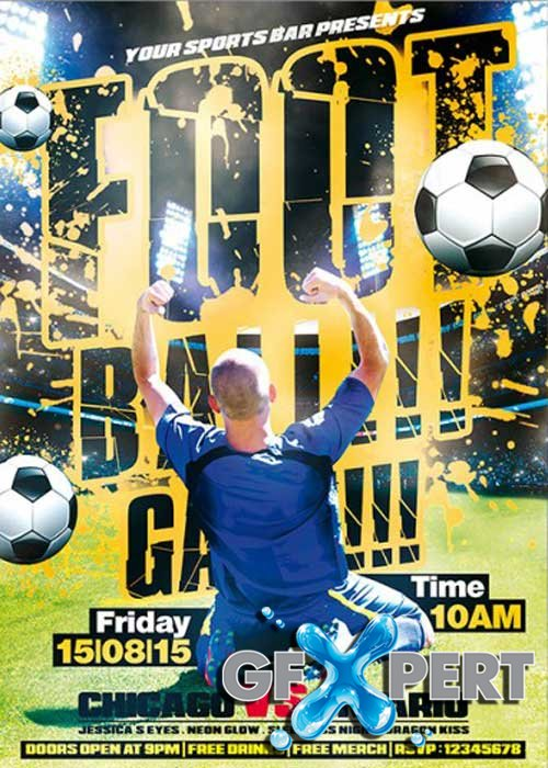 Football Game Premium Flyer Template