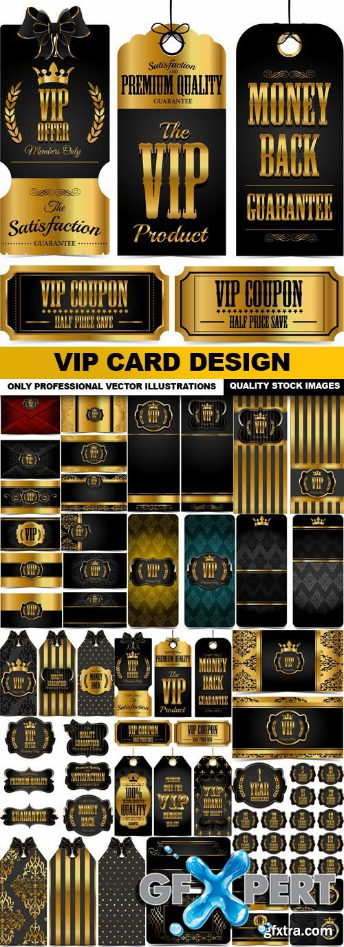 Vip Card Design - 20 Vector
