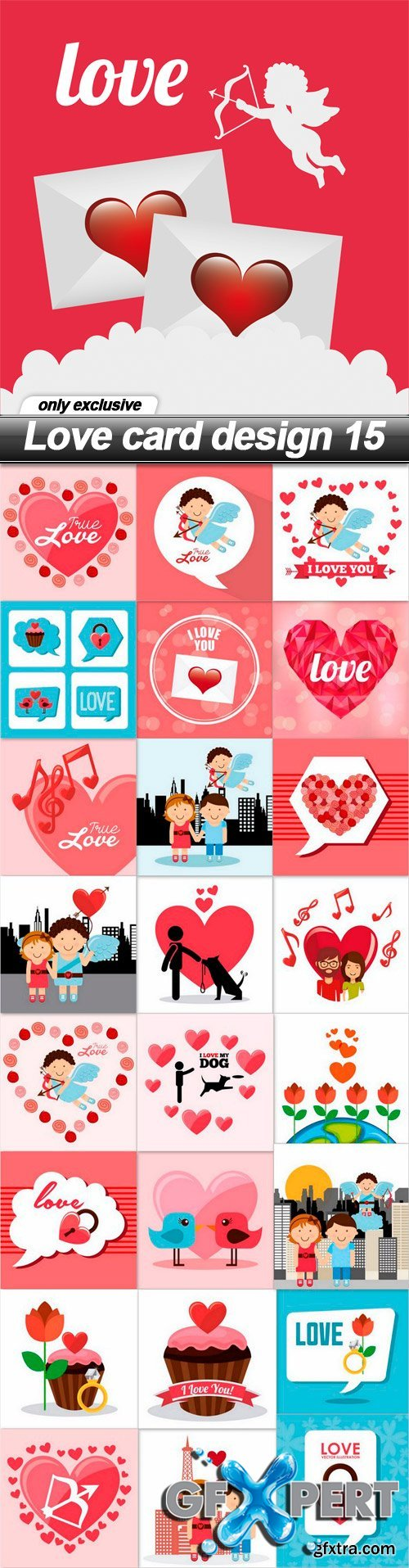 Love card design 15 - 25 EPS
