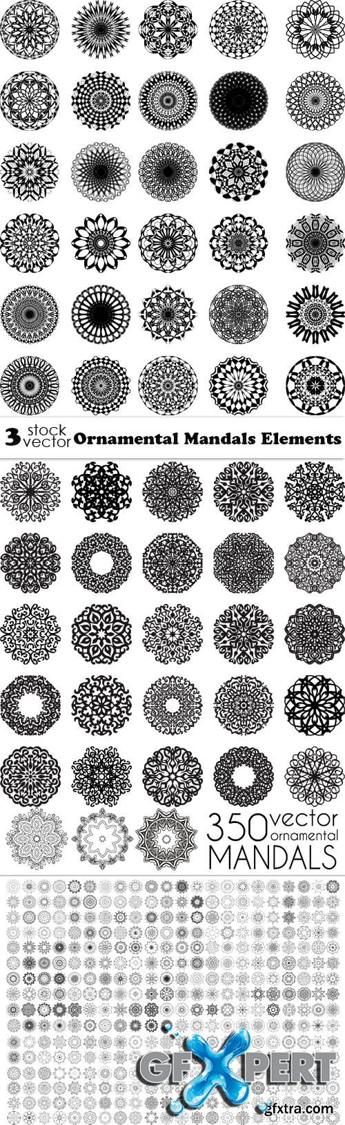 Vectors - Ornamental Mandalas Elements