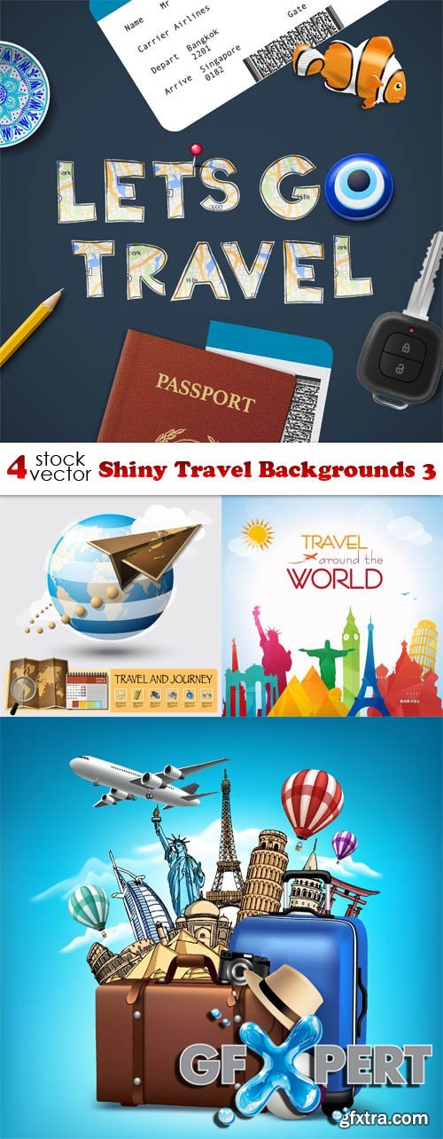 Vectors - Shiny Travel Backgrounds 3