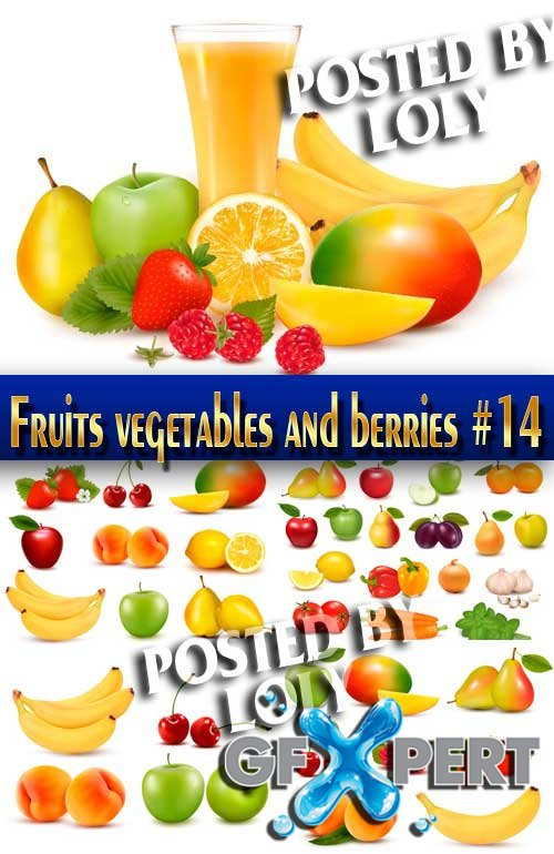 Fruits vegetables and berries #14 - Stock Vector