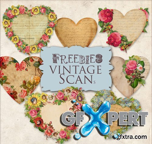 Scrap Kit - Romantic Vintage Hearts