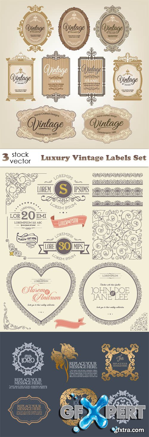 Vectors - Luxury Vintage Labels Set