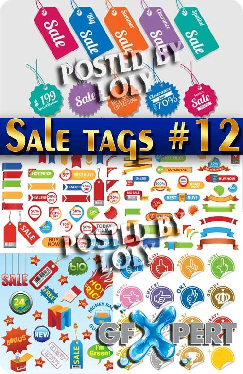 Sale tag #12 - Stock Vector