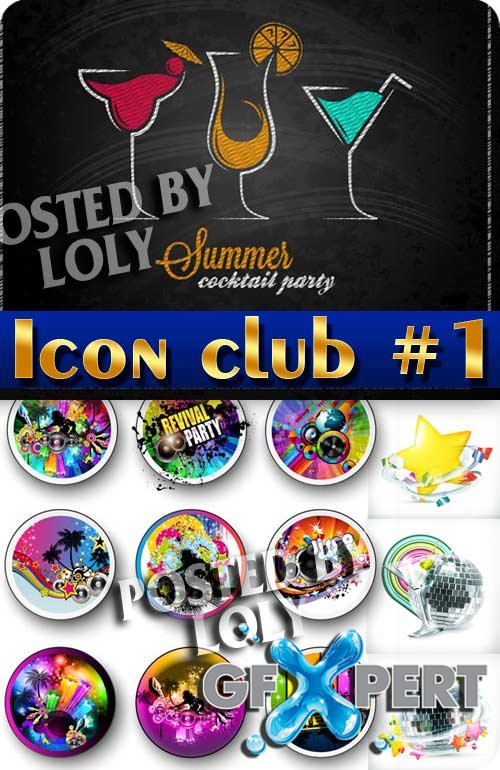 Icon. Club #1 - Stock Vector