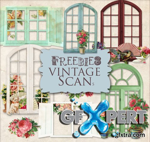 Scrap Kit - Vintage Windows