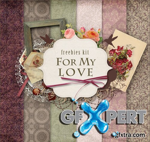 Romantic Scrap Kit - For My Love