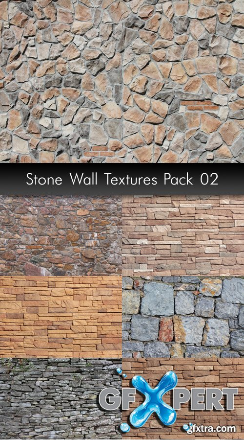 Stone Wall Textures, pack 2