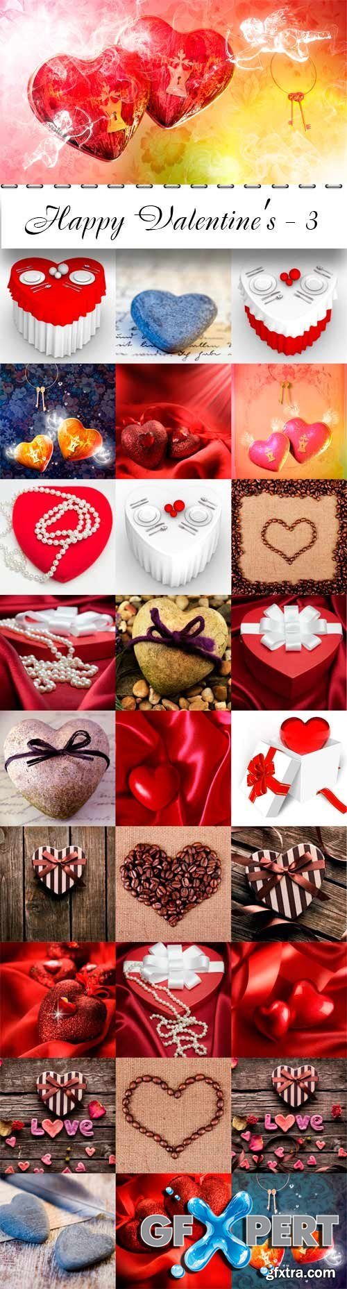 Happy Valentine's day raster graphics - 3