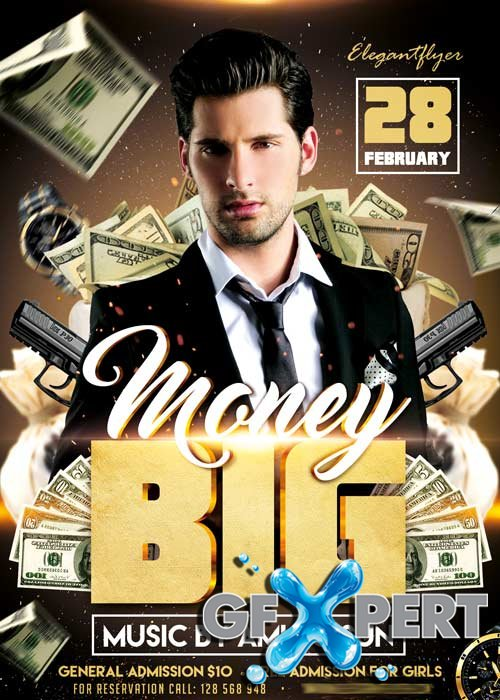 Big Money Flyer PSD Template + Facebook Cover