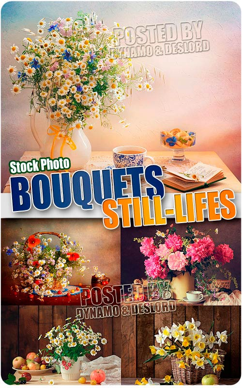 Still-lifes with bouquets - UHQ Stock Photo