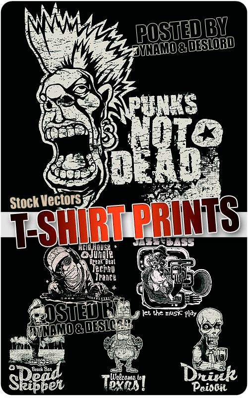 T-shirt prints 2 - Stock Vectors