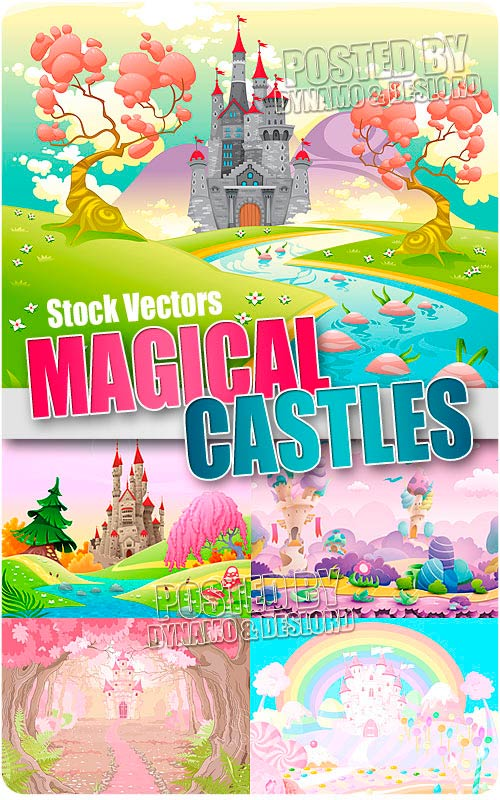 Magical castles - Stock Vectors
