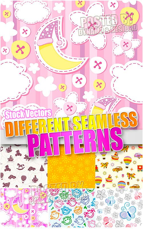 Different seamless patterns - Stock Vectors