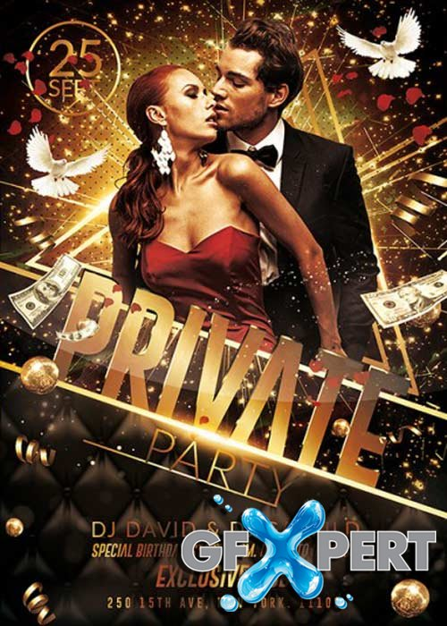 Private Party Vol.2 Premium Flyer Template + Facebook Cover