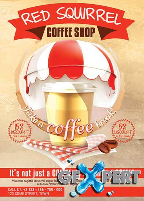 Coffee Shop Premium Flyer Template