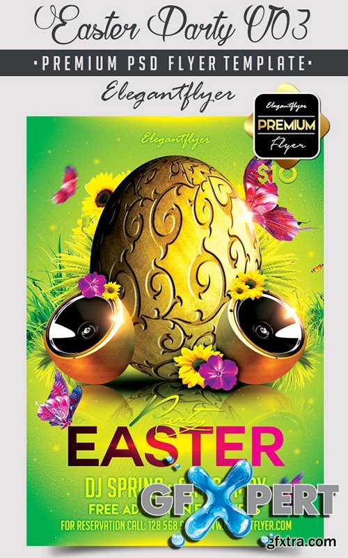 Easter Party V03 Flyer PSD Template + Facebook Cover