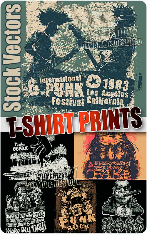 T-shirt prints 4 - Stock Vectors