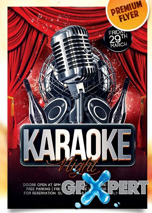 Free Karaoke Night Flyer Psd Template  Facebook Cover Download
