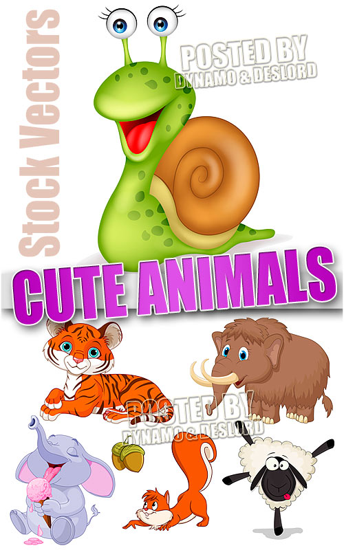 Cute animals - Stock Vectors