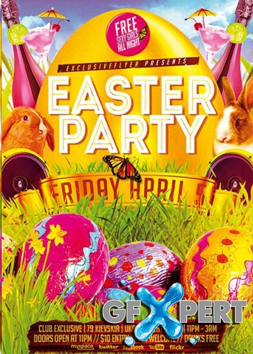 Easter Party V07 Premium Flyer Template