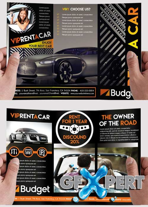 Car Rent Tri-Fold PSD Template
