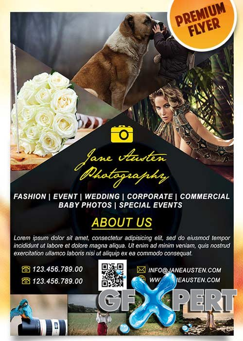Photography Flyer PSD Template + Facebook Cover