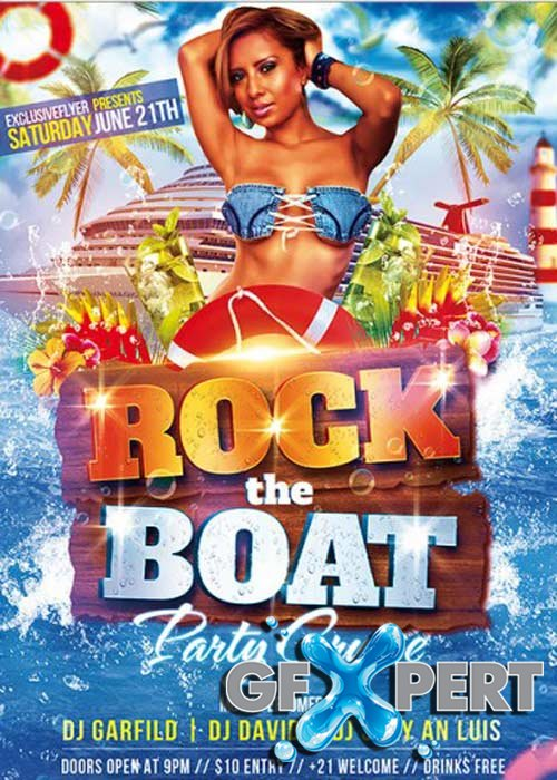Rock The Boat  Premium Flyer Template + Facebook Cover