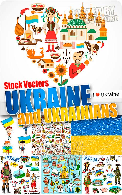 Ukraine and ukrainians - Stock Vectors