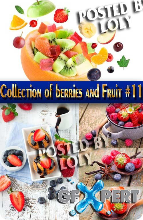 Food. Mega Collection of berries and Fruit #11 - Stock Photo