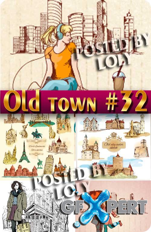 Old Town #32 - Stock Vector