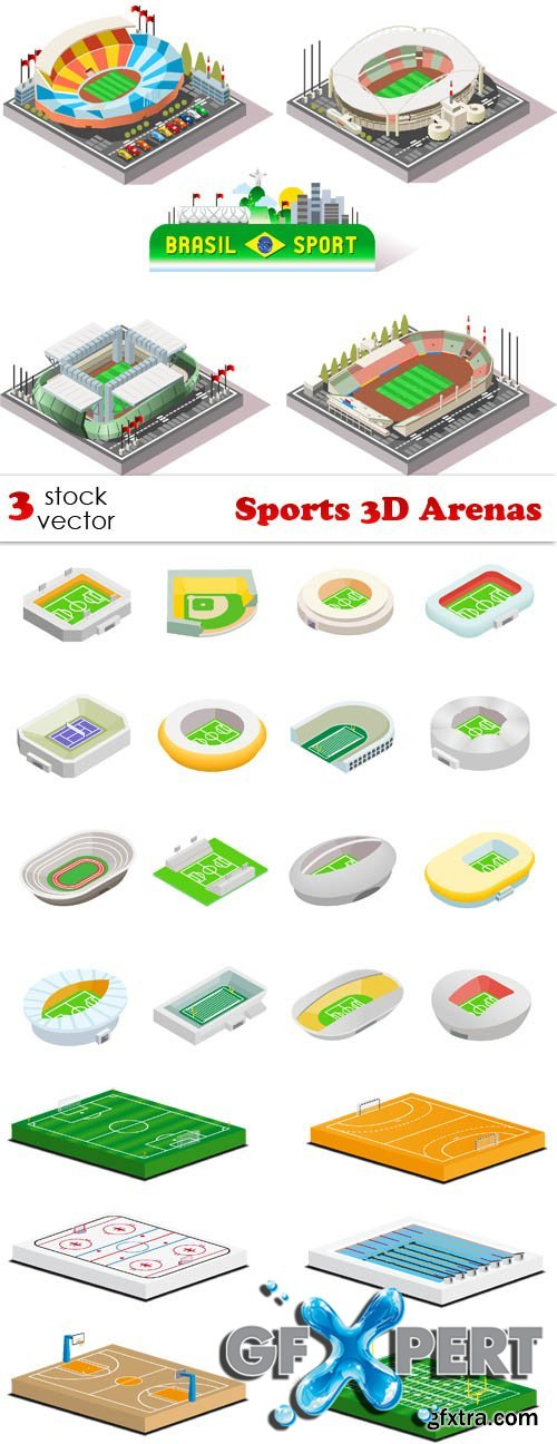 Vectors - Sports 3D Arenas