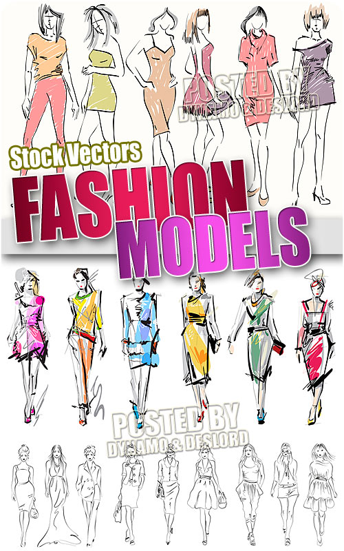 Fashion models - Stock Vectors