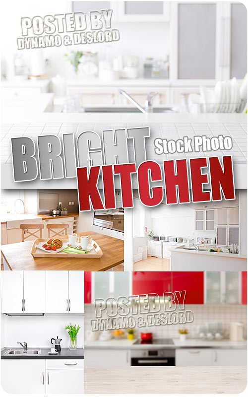 Bright Kitchen - UHQ Stock Photo