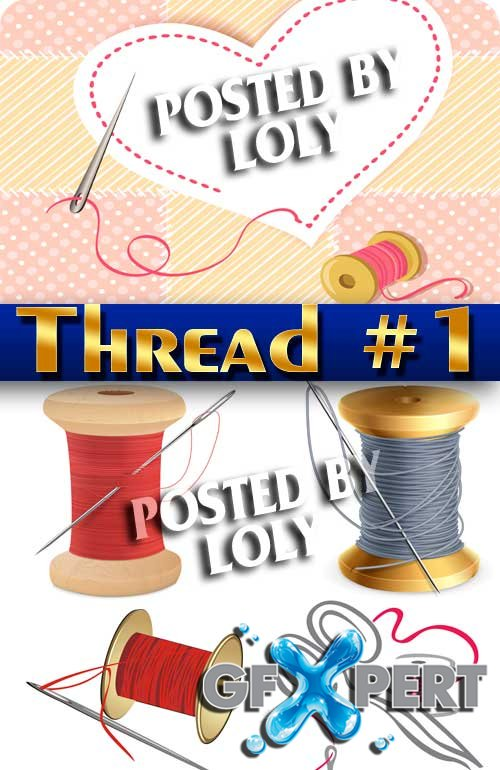 Thread #1 - Stock Vector