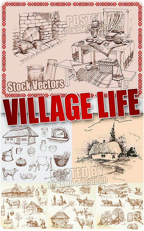 Village life - Stock Vectors