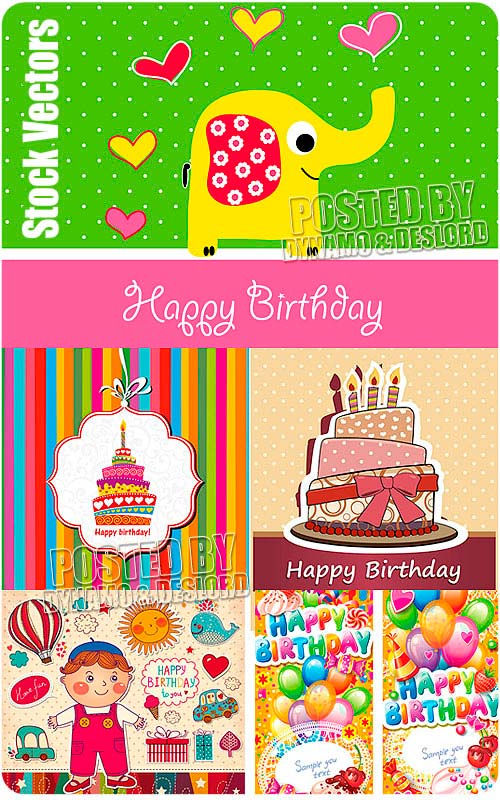 Birthday - Stock Vectors