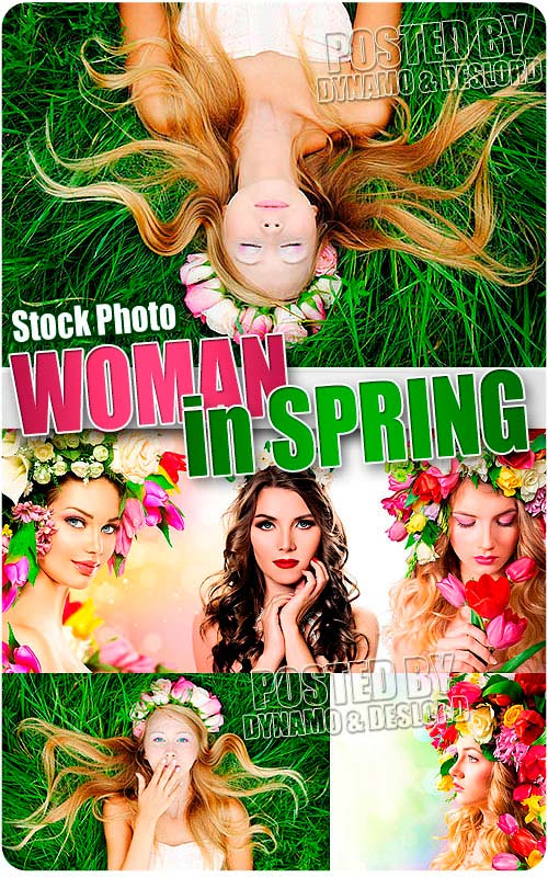 Woman in spring - UHQ Stock Photo