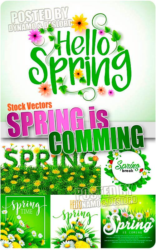 Spring is comming - Stock Vectors