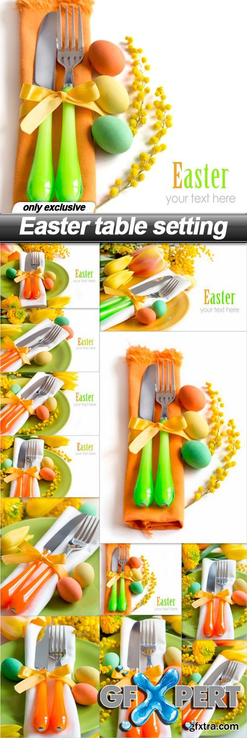 Easter table setting - 12 UHQ JPEG
