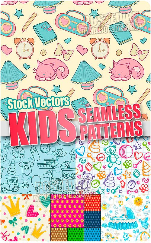 Kids seamless patterns - Stock Vectors