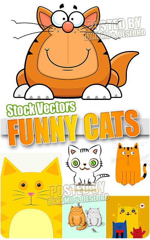 Funny cats - Stock Vectors